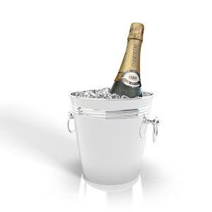 c4d realistic champagne wine bucket