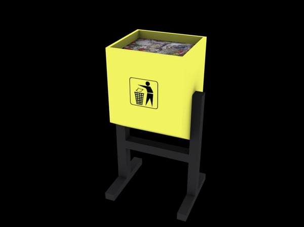 free trash container 3d model