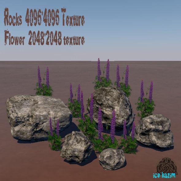 rock flower 3ds