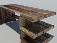 desk desk-e 3d max