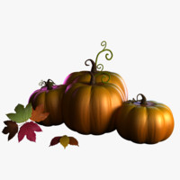 3d model halloween pumpkins