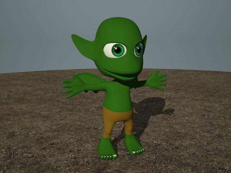 cute cartoon monster 3ds
