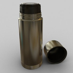 3d model thermos