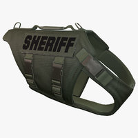 police dog body armor 3d obj