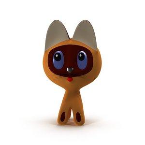 russian cartoon kitten gav 3d model
