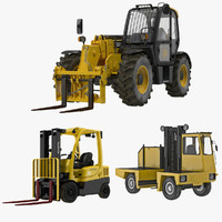 forklifts modeled truck 3d 3ds