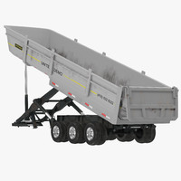 semi dump trailer rigged 3d max