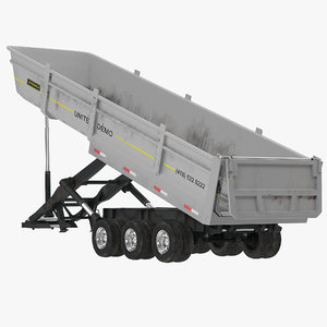 max semi dump trailer rigged