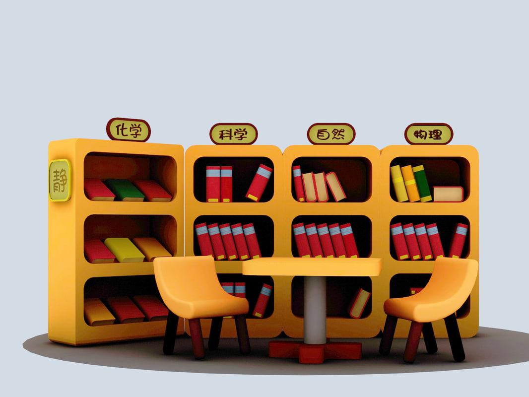 cartoon library 3d max