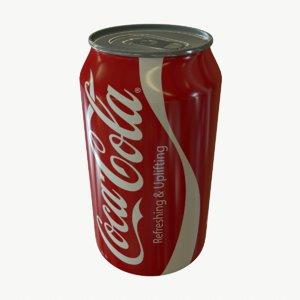 3d subdivisional coca cola