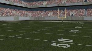 3ds max football stadium