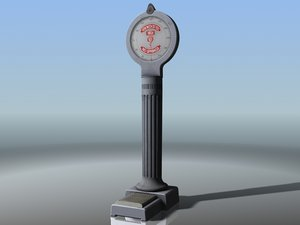 real time penny scale 3d model