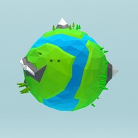 cartoon planet 3d model