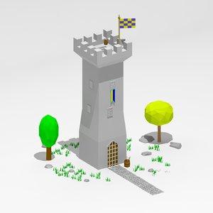 3d cartoon tower