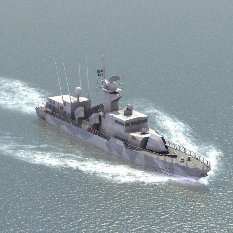 3d stockholm class corvette