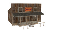 western house west 3d model