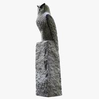 owl statue 3d 3ds