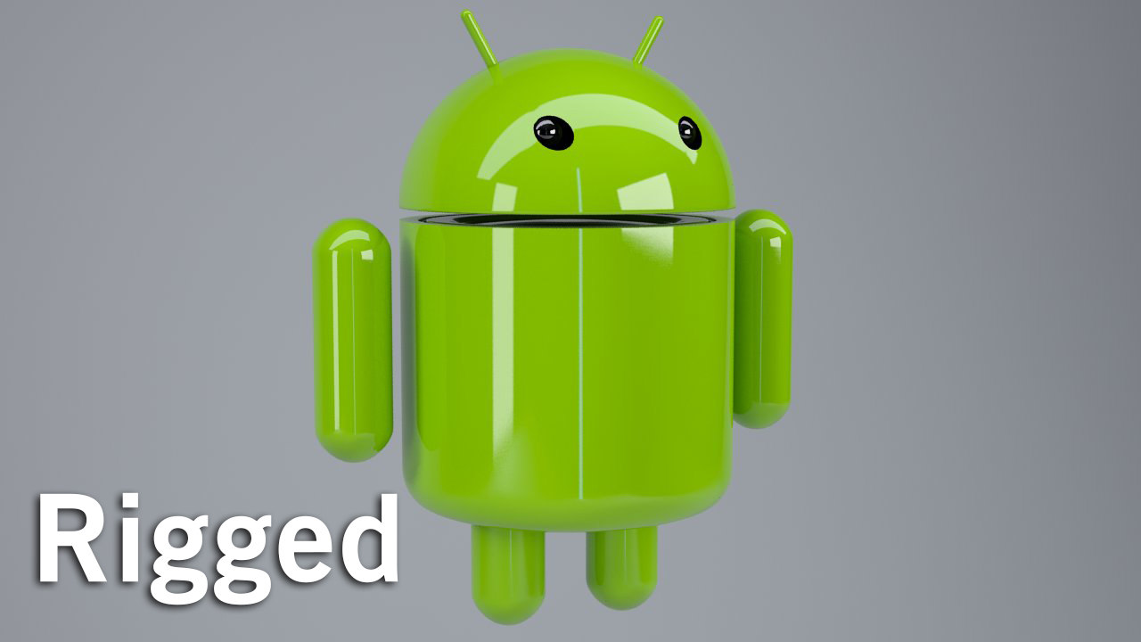 android rigged cat 3d max