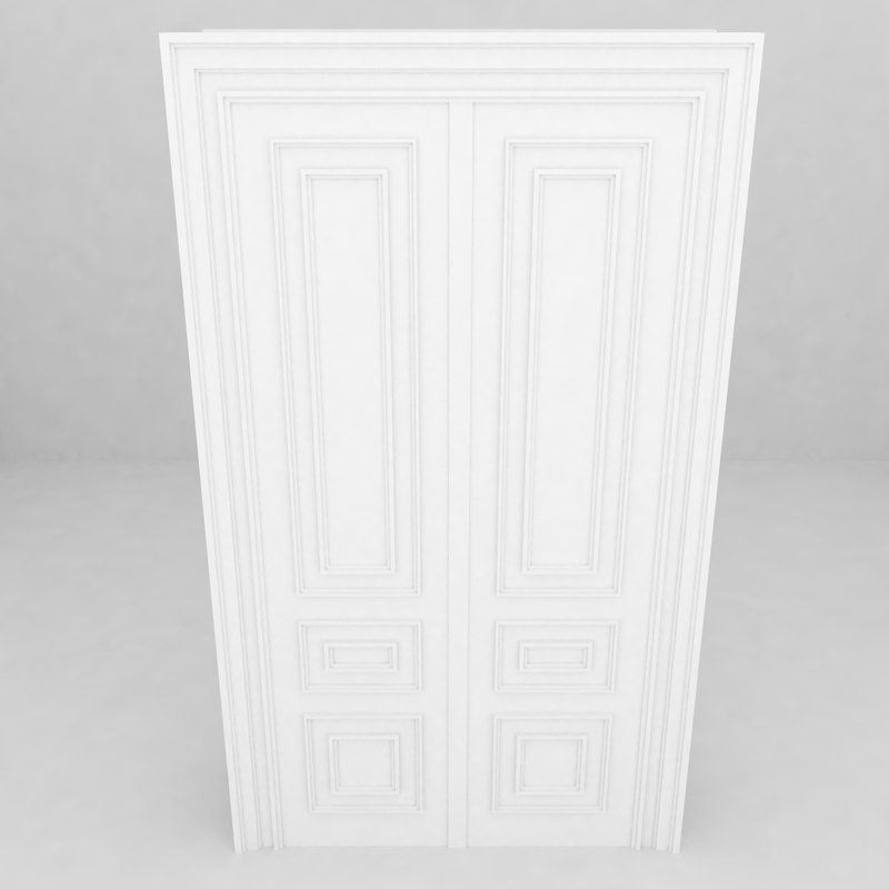 3d model building architecture door