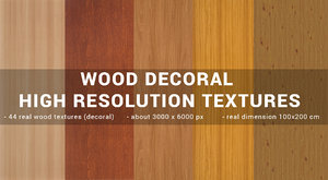 wood decoral textures