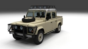 land rover defender 110 3d fbx