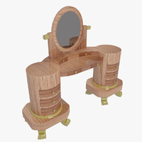 dressing table 3d obj