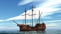 3d model sailing vessel