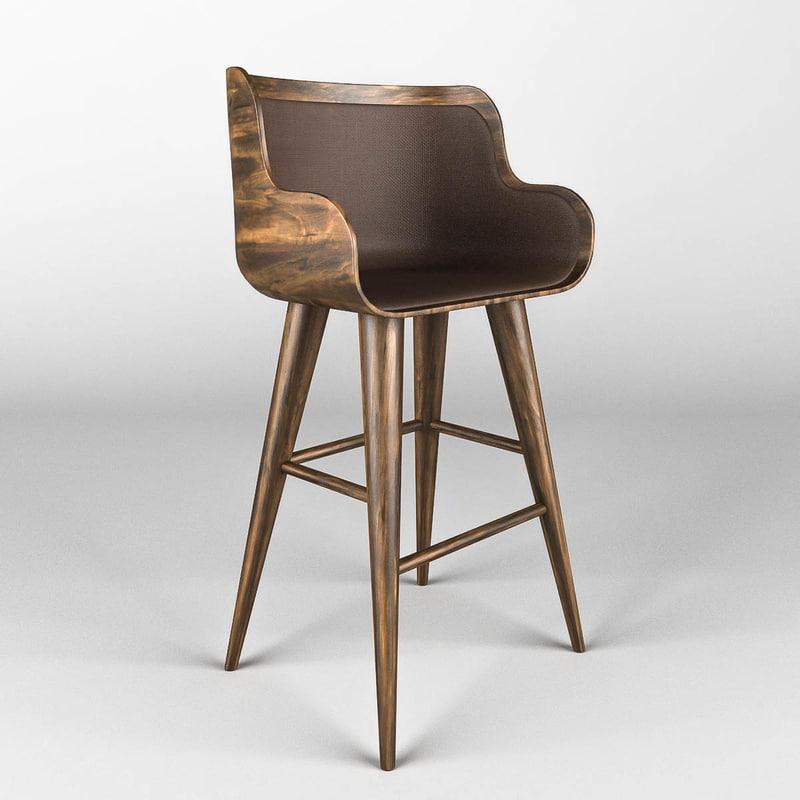 chair restaurant bars 3d model