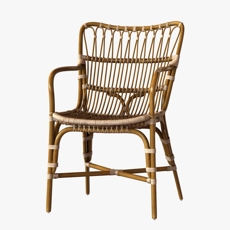 3ds max chair retro rattan dining