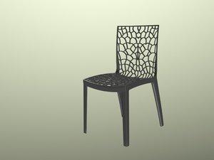 obj chair cadeira preta