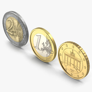 3ds max german euro coins