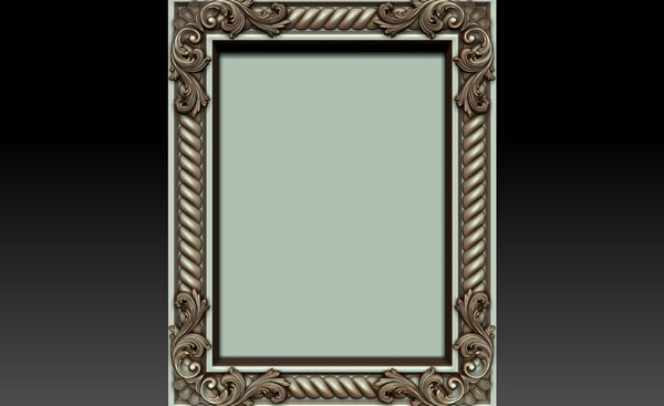 3ds max decorative frame
