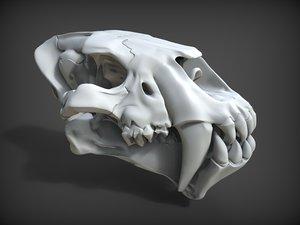 skull homotherium obj
