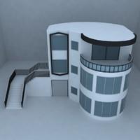 3d villa street architecture