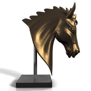 horse head statue 3d model