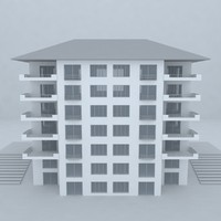 3d model of street apartment architecture