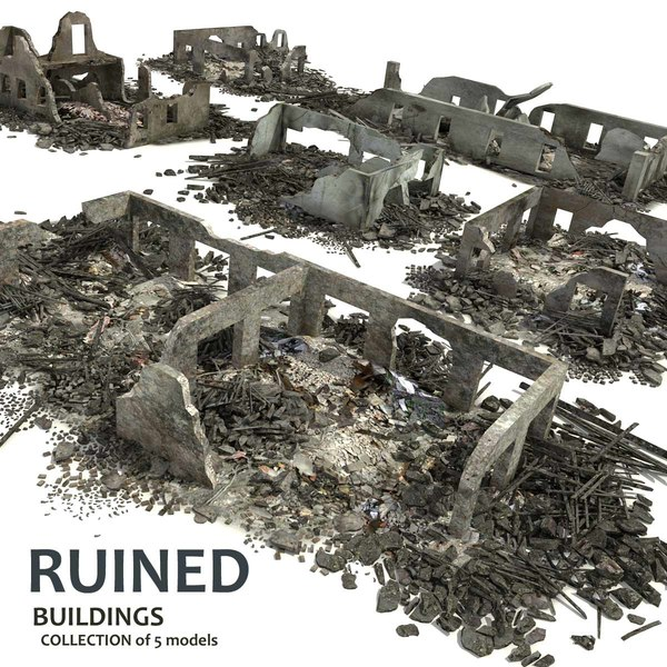 3ds max ruined building 4 collections