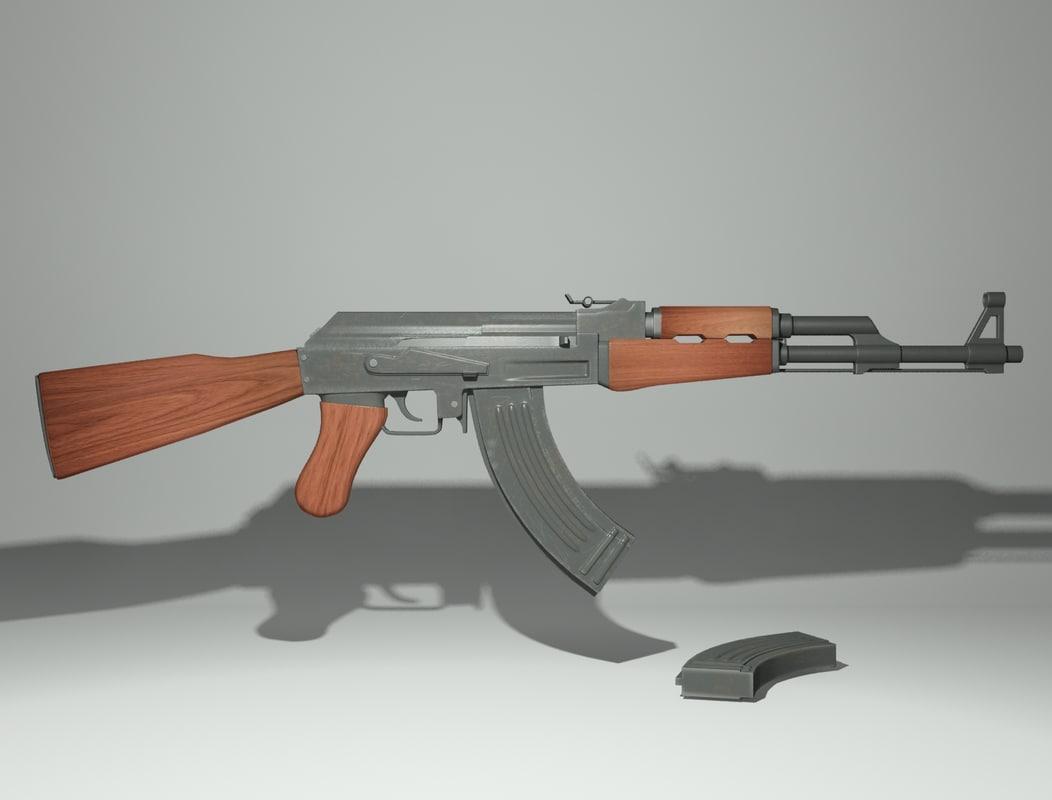 rifle ak 47 max