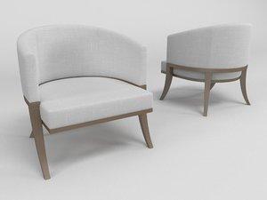 armchair - 3d model
