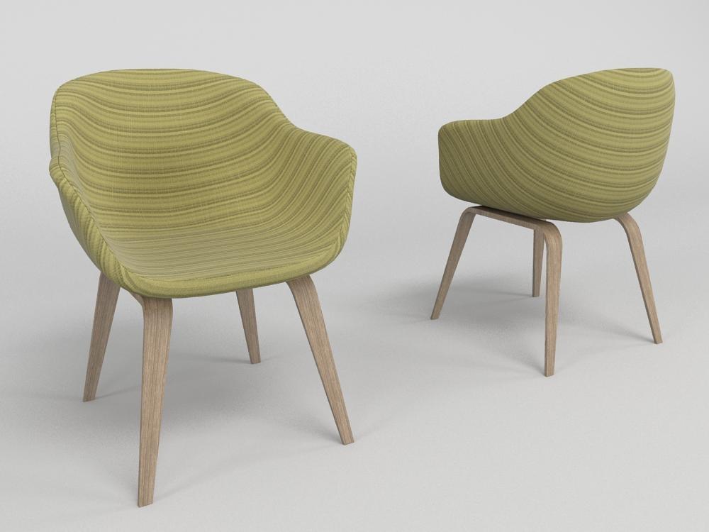3d model modern chair - cadeira