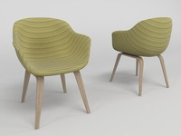3d model modern chair - cadeira