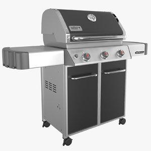 weber genesis grill e-310 3d max