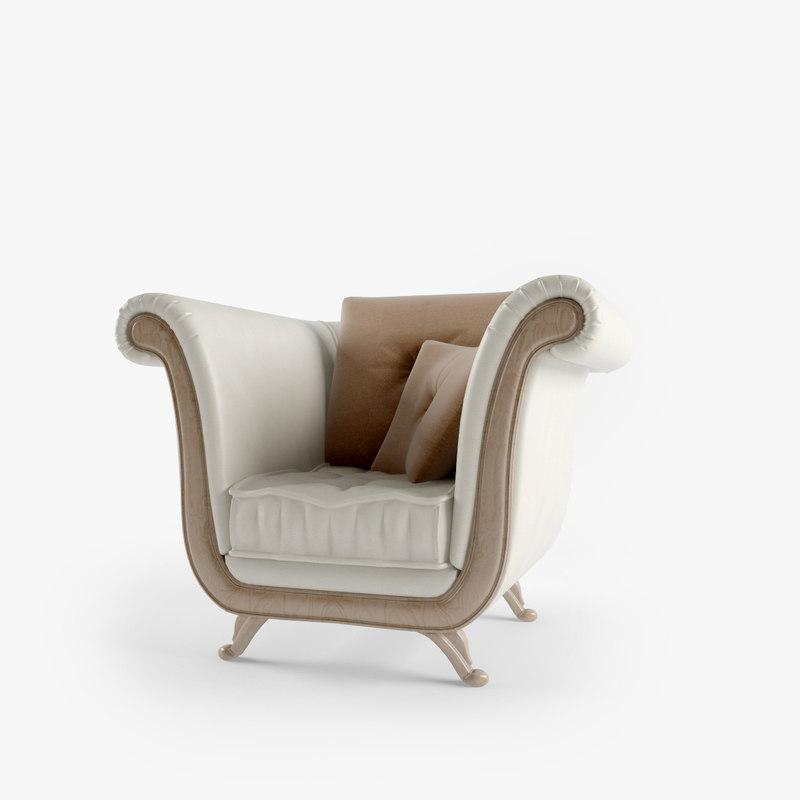 3d model of klimt armchair