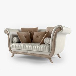 3d leather sofa klimt model