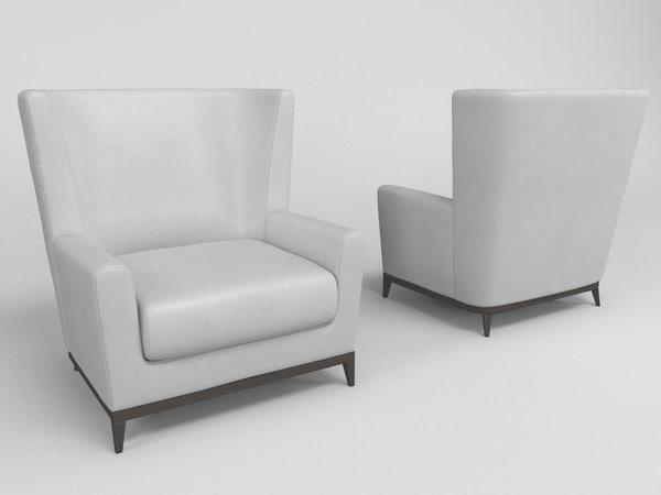 armchair poltrona - 3d max