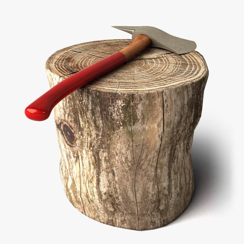 axe log 3d 3ds