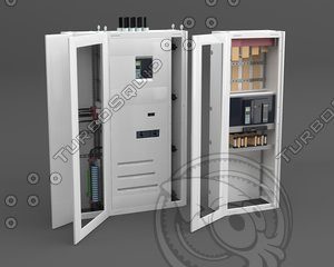 3d model electrical shield controlers