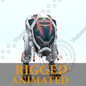 - robot rigged character 3d model
