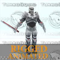 - sci-fi knight rigged character 3d model
