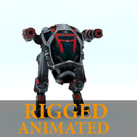 3d - robot 2- rigged character